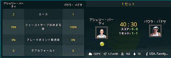 テニス_ライブベット画面2